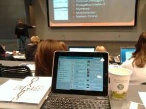 The Zaggmate plus Keyboard was a perfect live-tweeting compantion for the iPad during a recent conference with Jason Falls