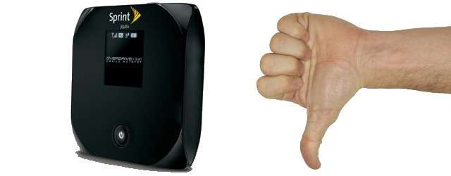"Sprint Overdrive 4G WiFi Hotspot – Needs To Be Less ""Hot"" and More ""Spot"""