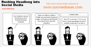 Cartoon: Rushing Headlong Into Social Media