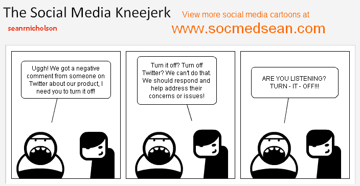 The social media kneejerk - How those who don't understand social media often react to a social media crisis