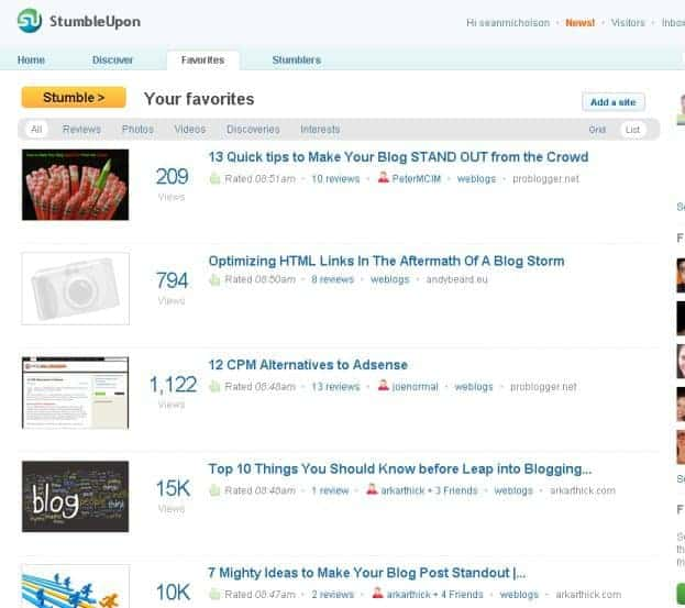 StumbleUpon can be a great tool to find resources in your niche, make contacts, and blog better