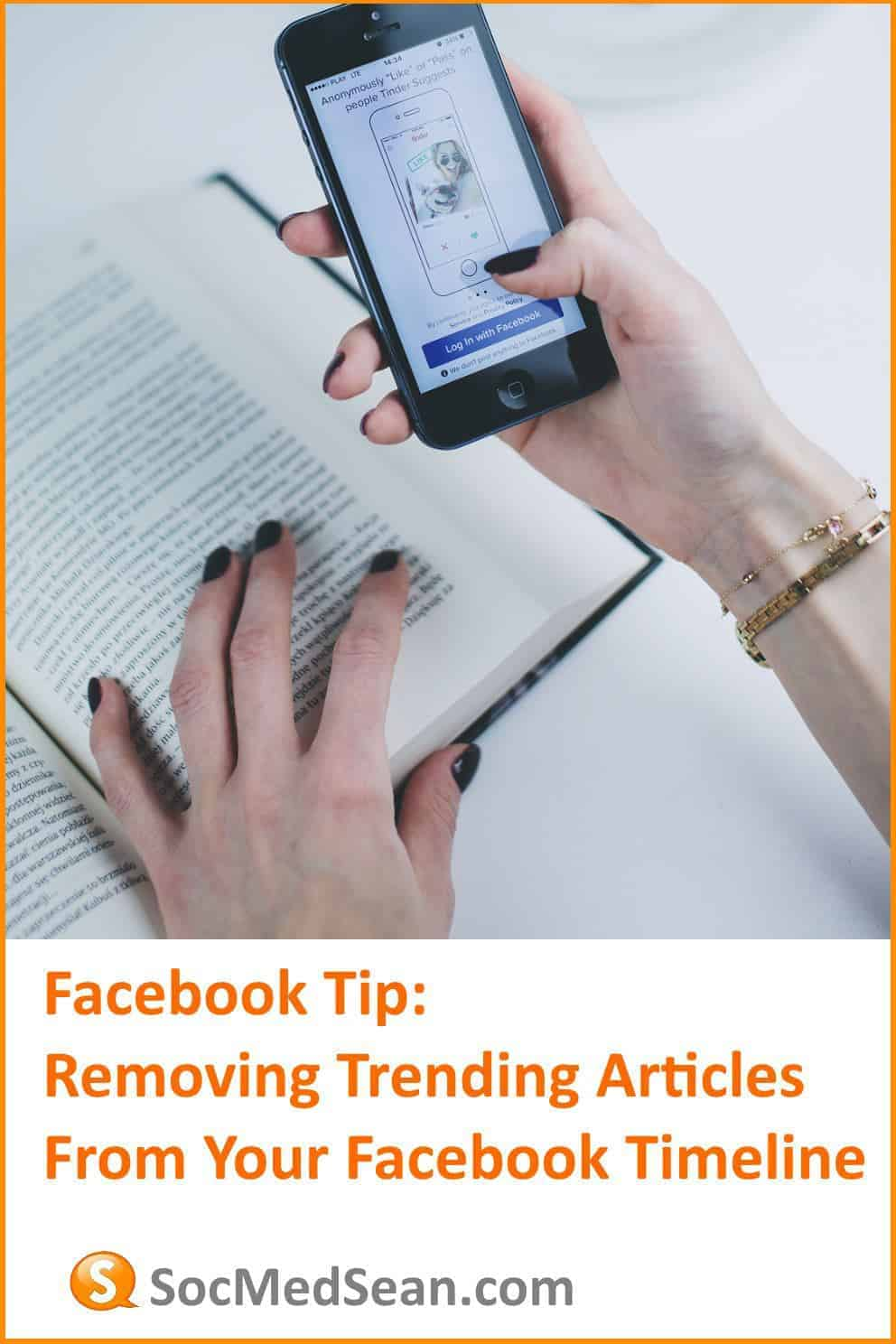 Steps to remove trending articles from your Facebook timeline