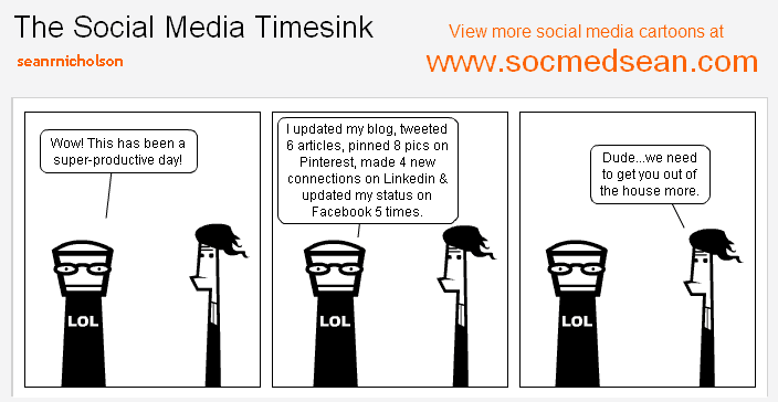 Do you let the social media timesink distract you from real life?