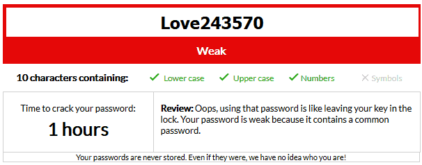 Adding non-sequential numbers to your password can strengthen it