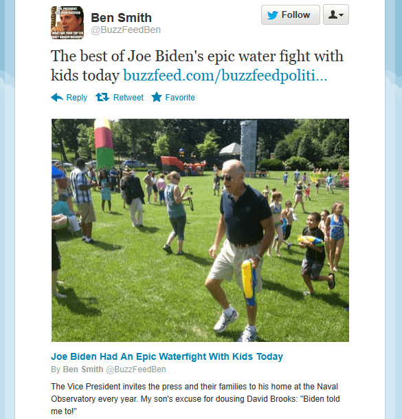 Here's an example of an expanded tweet where Buzzfeed is leveraging the additional 140 characters