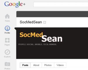 You can now find SocMedSean on Google Plus