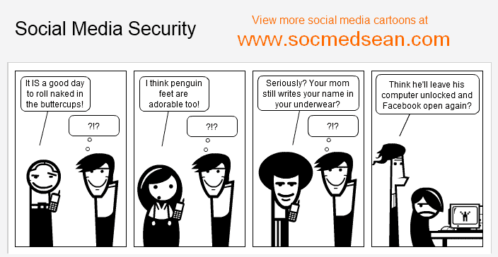 Social Media Security Fail - When Computers And Mobile Devices Are Left Unlocked