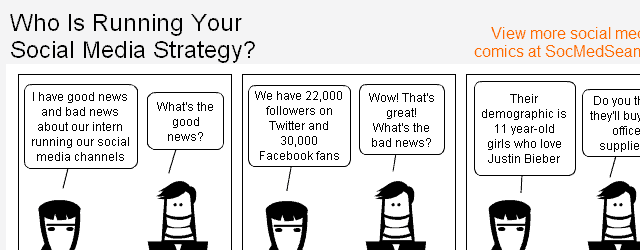Who do you have running your social media strategy? Is It your intern?