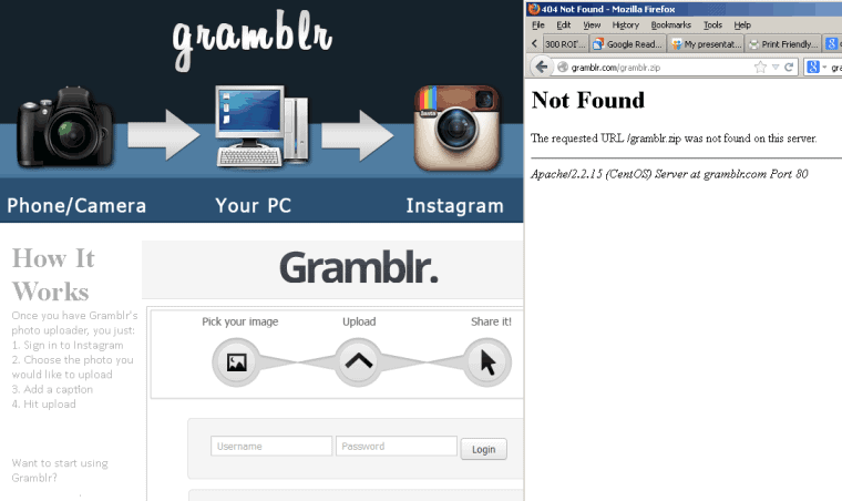 Unfortunately Gramblr Is Not A Solution For Uploading Photos To Instagram Via The Web