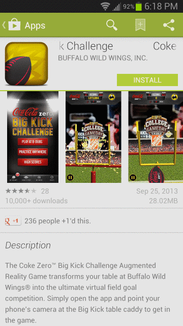 Buffalo Wild Wings Takes Finger Flick Football Mobile With Their New App