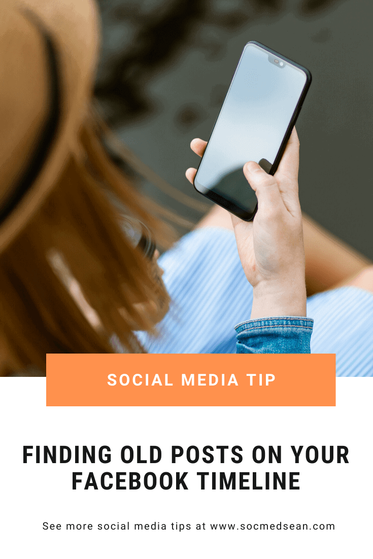 Tips for searching your Facebook feed for a specific post that you added in the past