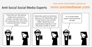 Social Media Comic – Anti-Social Social Media Experts
