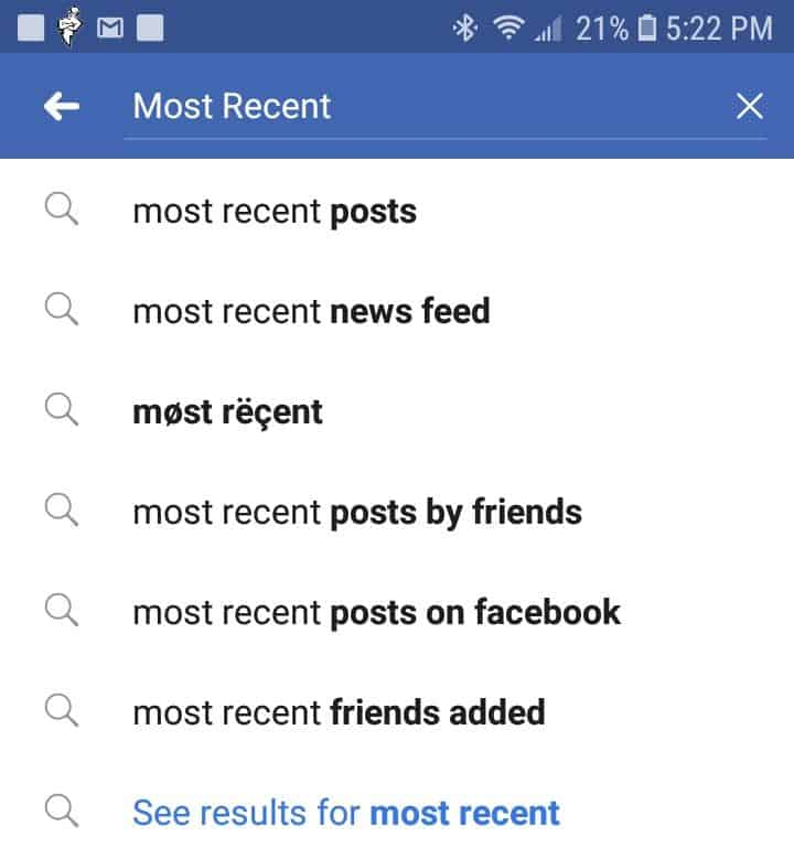 ANSWERED] Permanently Set Facebook Feed To Show Most Recent