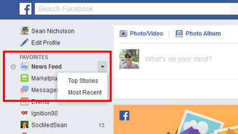 You can manually change your Facebook feed to display the most recent posts, but Facebook will change it back to Top Stories after about 24 hours.