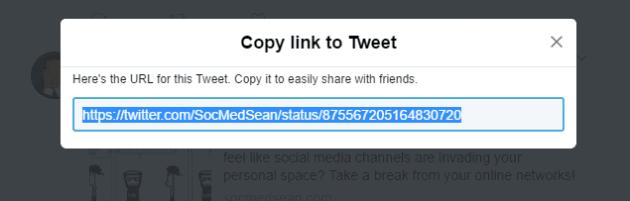 Step 3 in posting a tweet to Facebook is copying the URL of the tweet