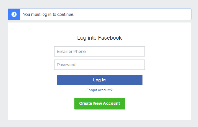 Facebook privacy settings on a post, image, or video might prohibit your Twitter followers from viewing the content.