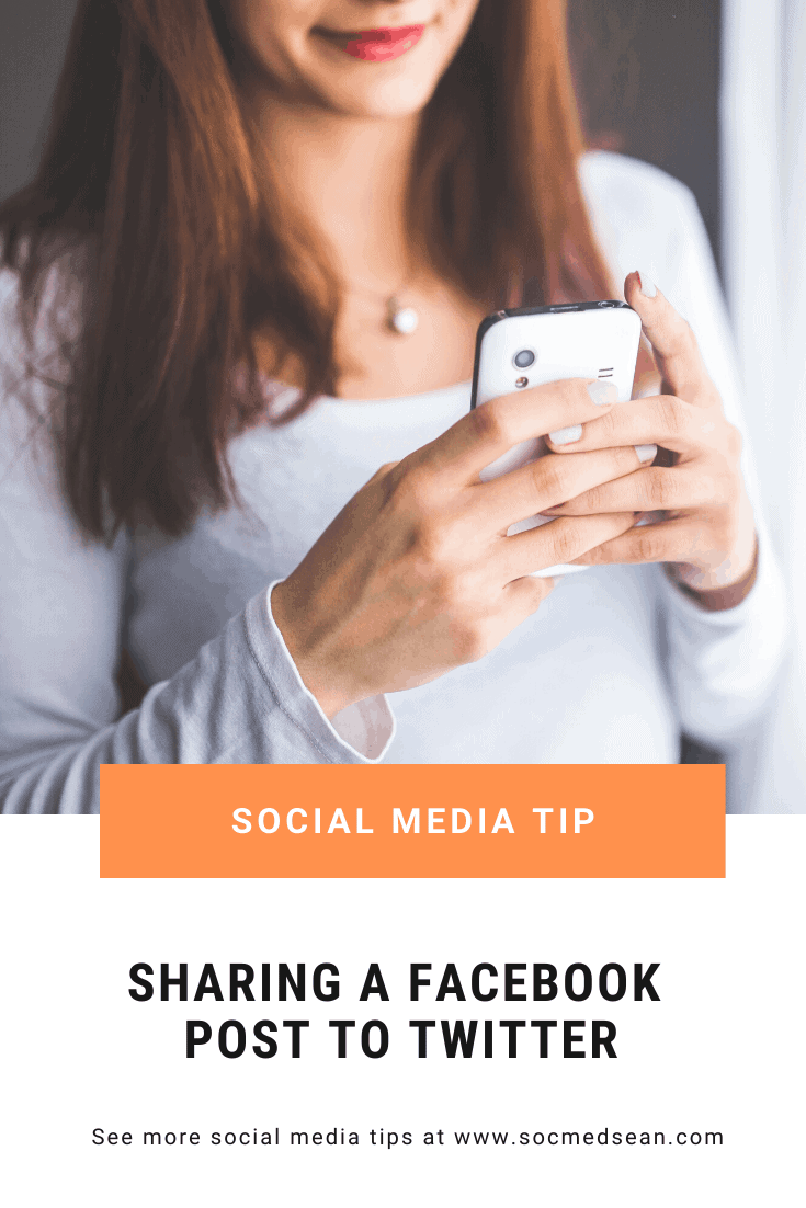 Tips for sharing a Facebook post to Twitter in a tweet