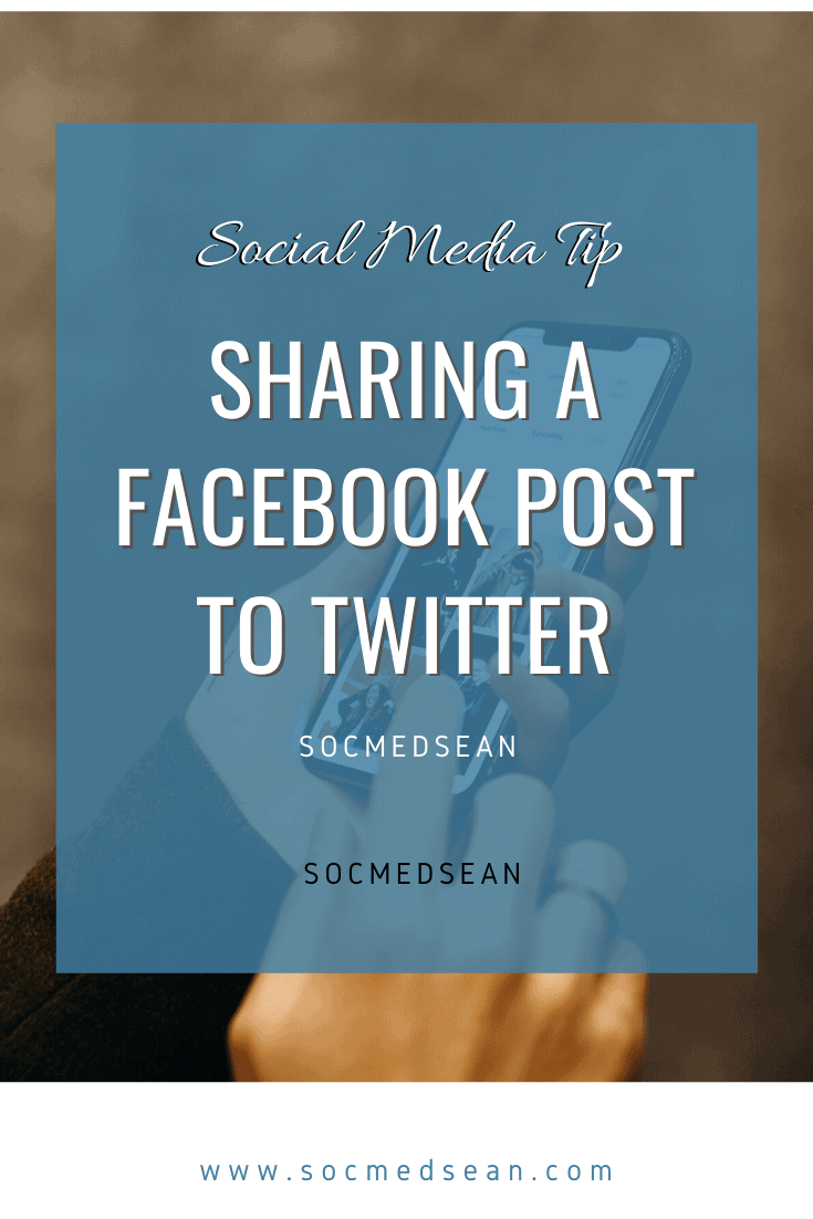 Learn how to share a Facebook post to Twitter