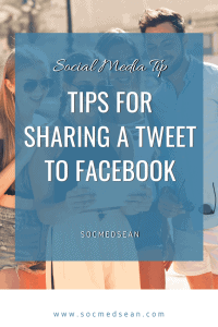 Tips for sharing a post from Twitter directly to Facebook