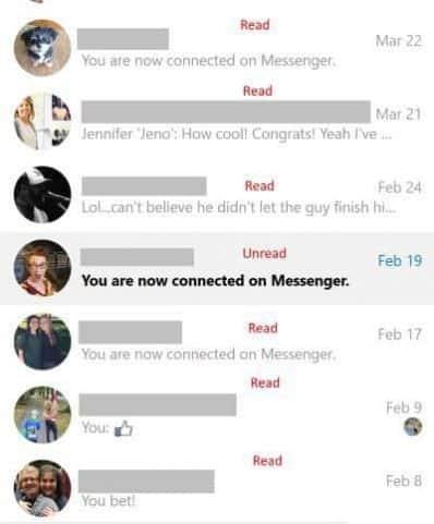 Busca esas notificaciones del sistema de Facebook, ya que a menudo pueden ser la causa de la falla técnica que hace que la notificación de mensaje no leído se muestre en la aplicación móvil de Facebook