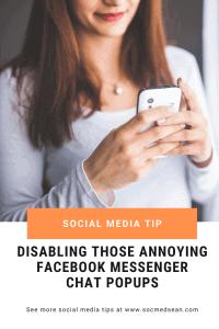 Disabling the Facebook Messenger chat popups on your desktop