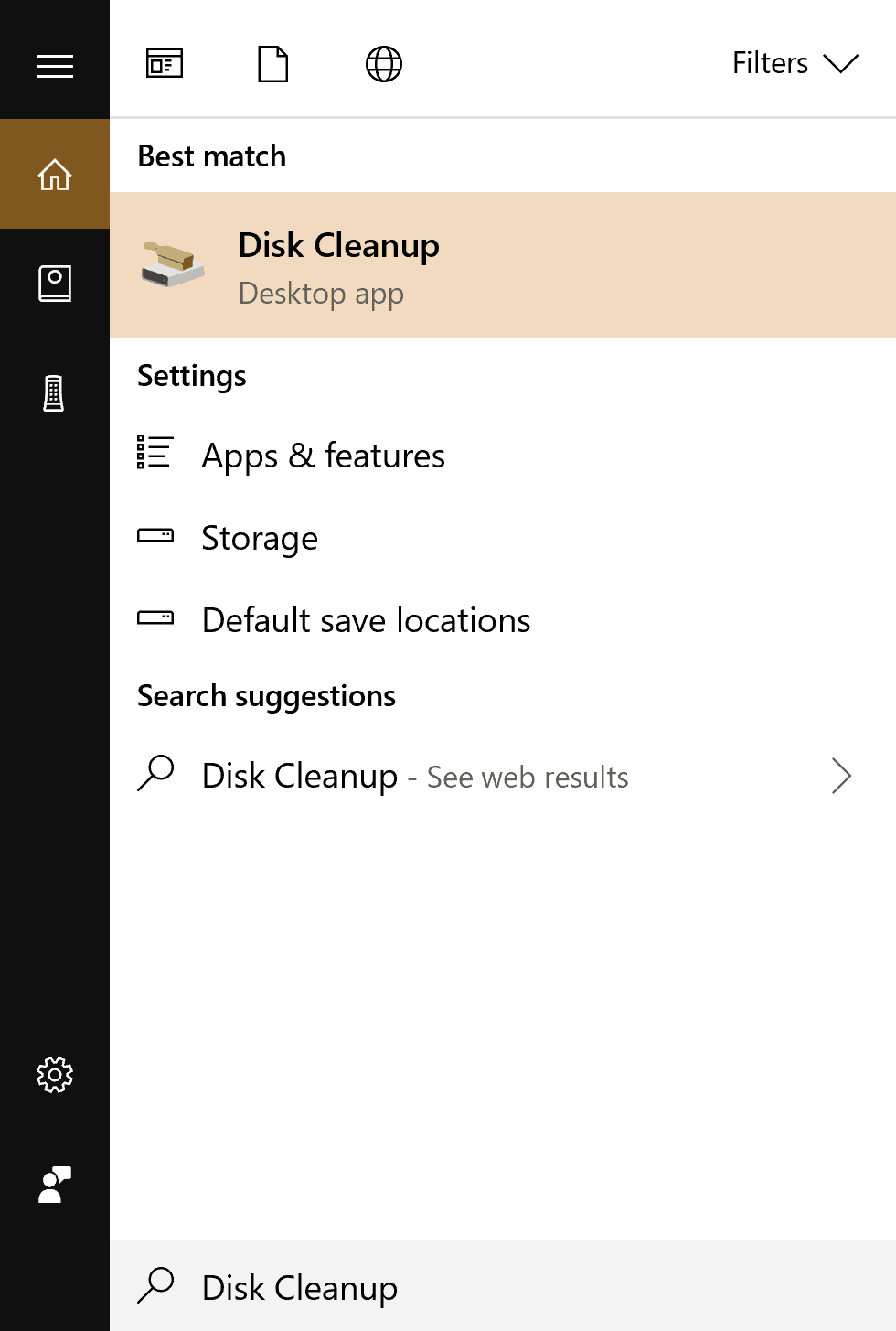 A disk cleanup can help free up space on your hard drive