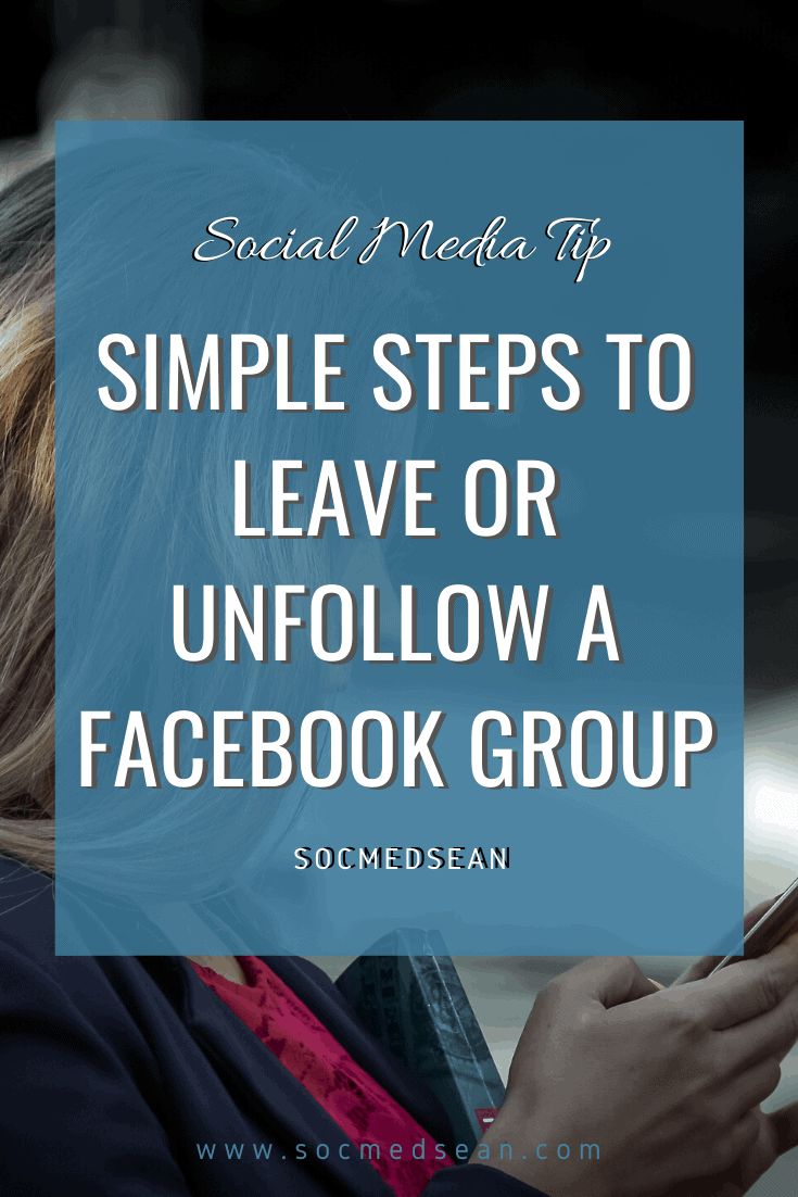Learn how to remove yourself from a Facebook group by either leaving or unfollowing the group