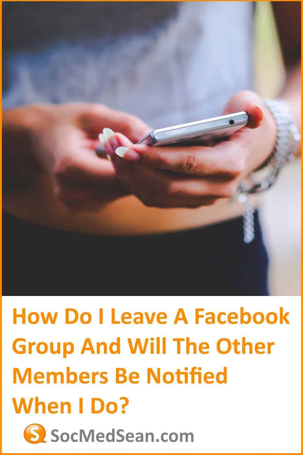 Steps to leaving a Facebook group without notifying the other members