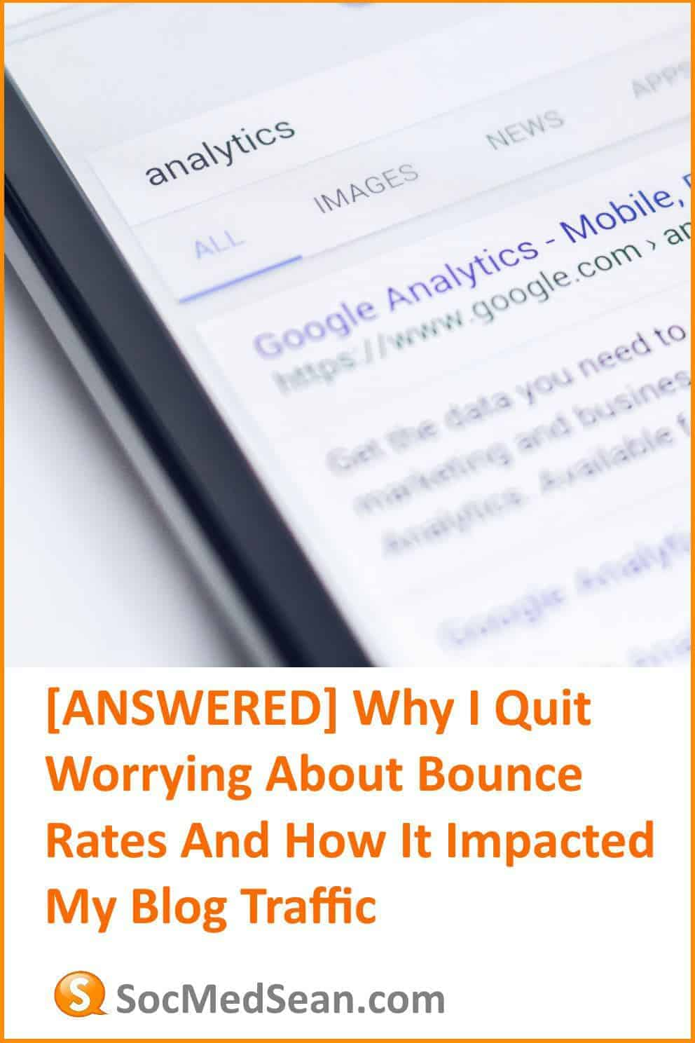 Why I quit worrying about my blog article and post bounce rate
