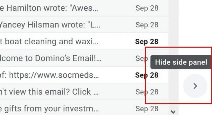 You can hide the side panel in Gmail to adjust the UI to look more like the classic view