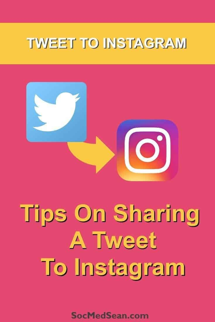 Tips on sharing a tweet from Twitter to Instagram