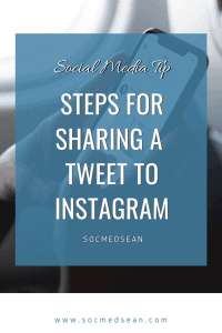 Sharing a tweet or twitter post to your Instagram account can be easy if you follow these steps