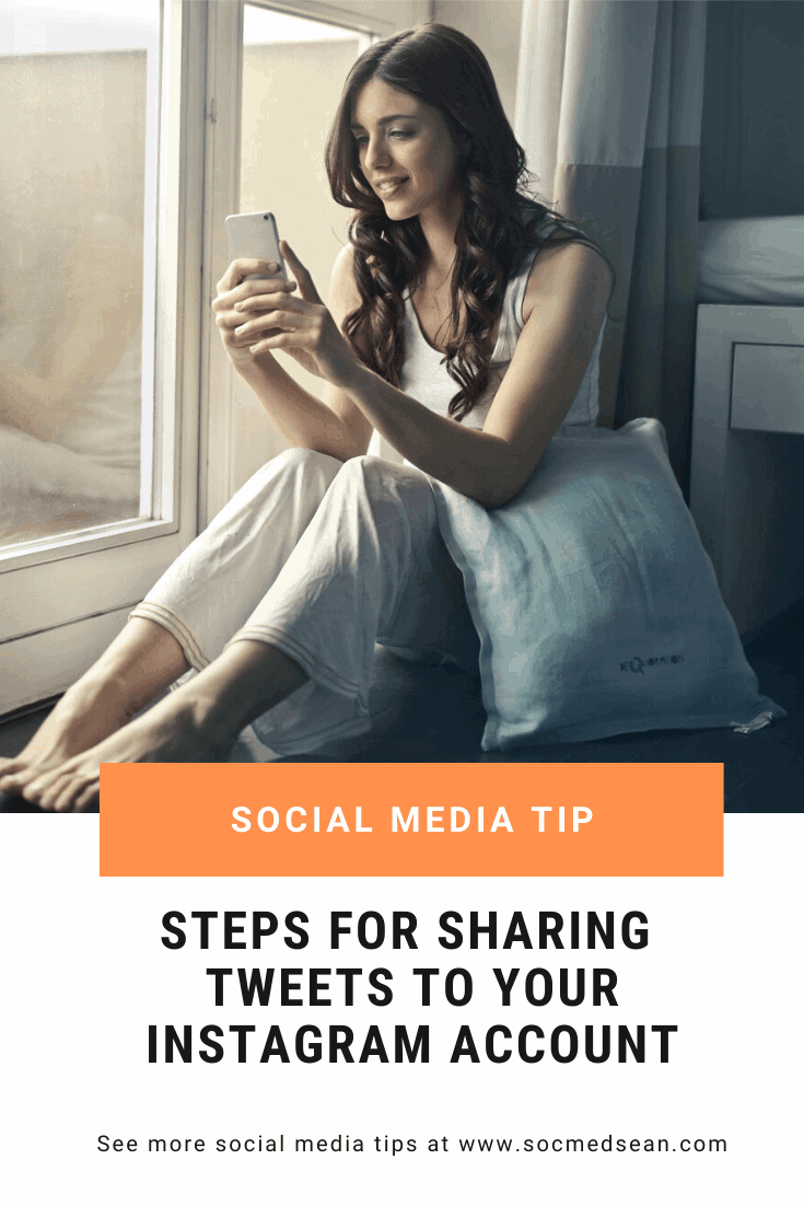 If you want to share a tweet or Twitter post to your Instagram account, here are the steps