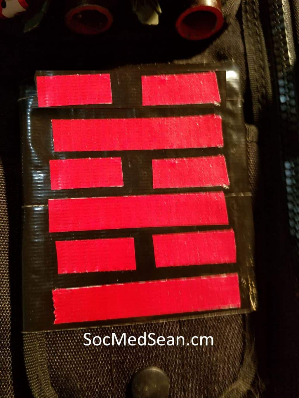 The Arashikage clan insignia for my Snake Eyes cosplay costume