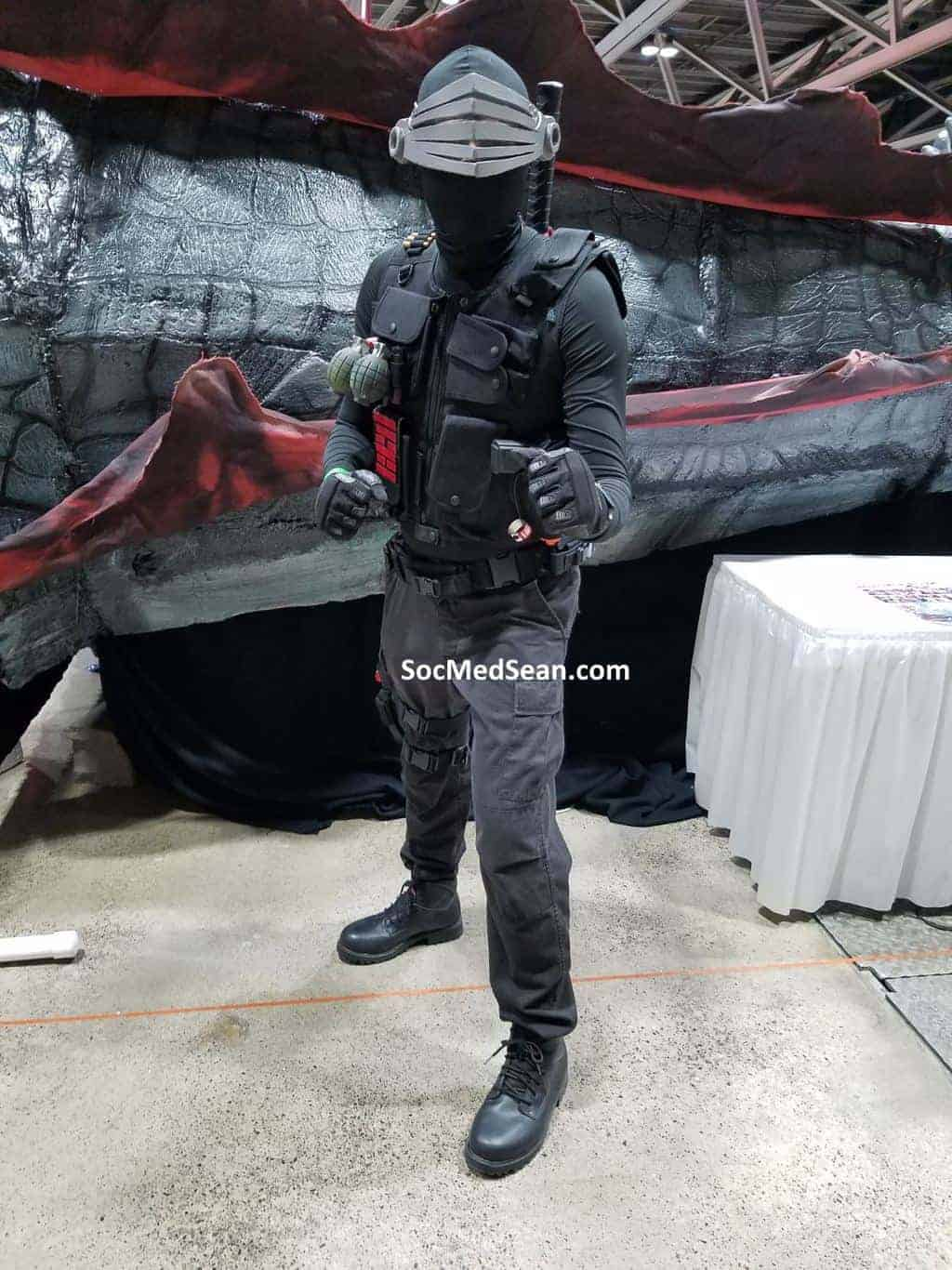 My Snake Eyes Cosplay at Planet Comicon
