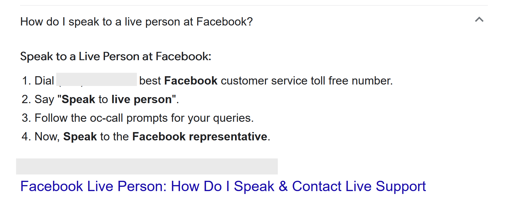 Contact Facebook Support Via Phone