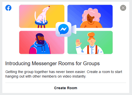 Facebook Messenger Rooms for Groups allows you to stay connected via video chat