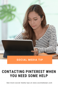 Tips for contacting Pinterest when you need support
