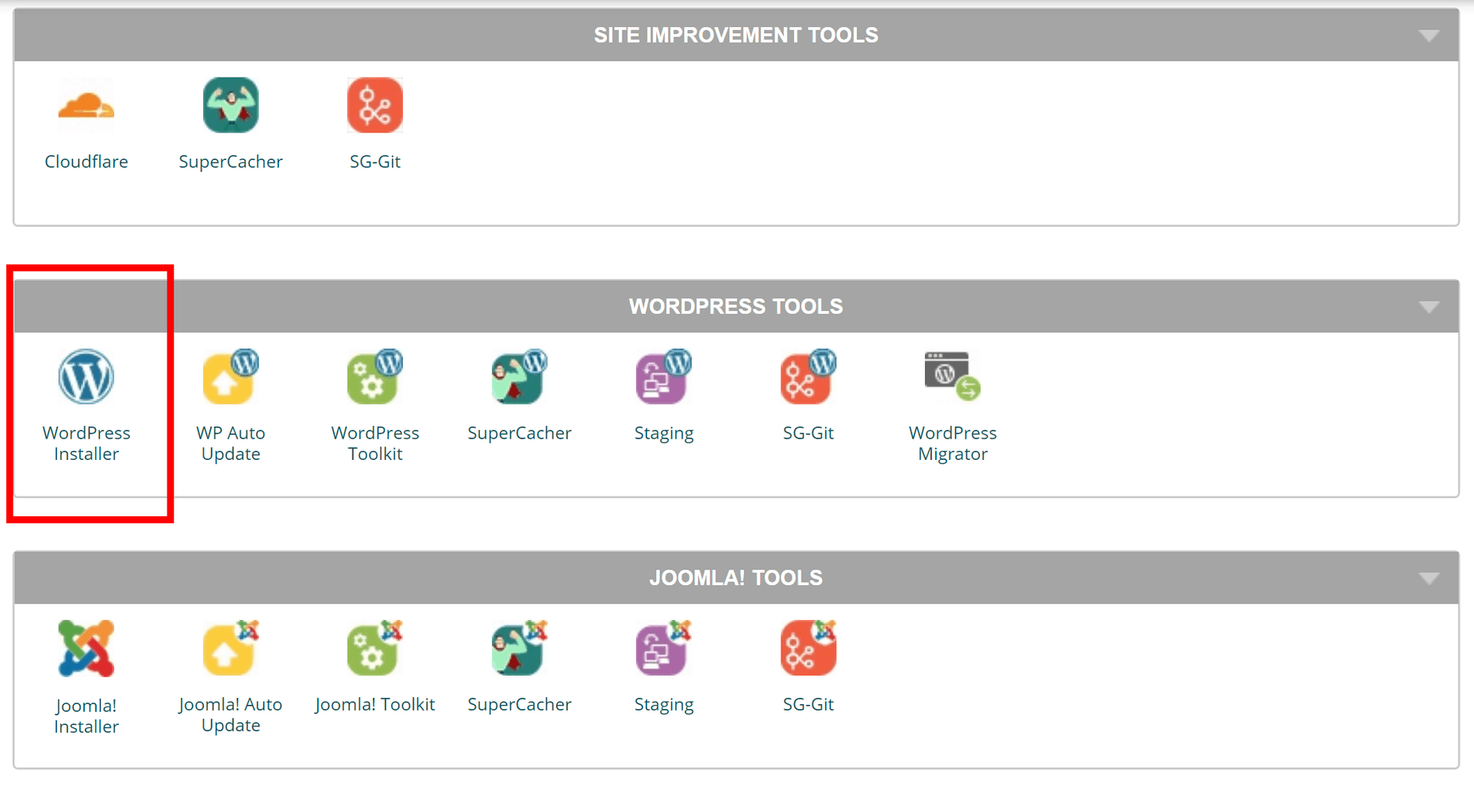 Most hosts provide a WordPress installer as part of their cPanel dashboard.