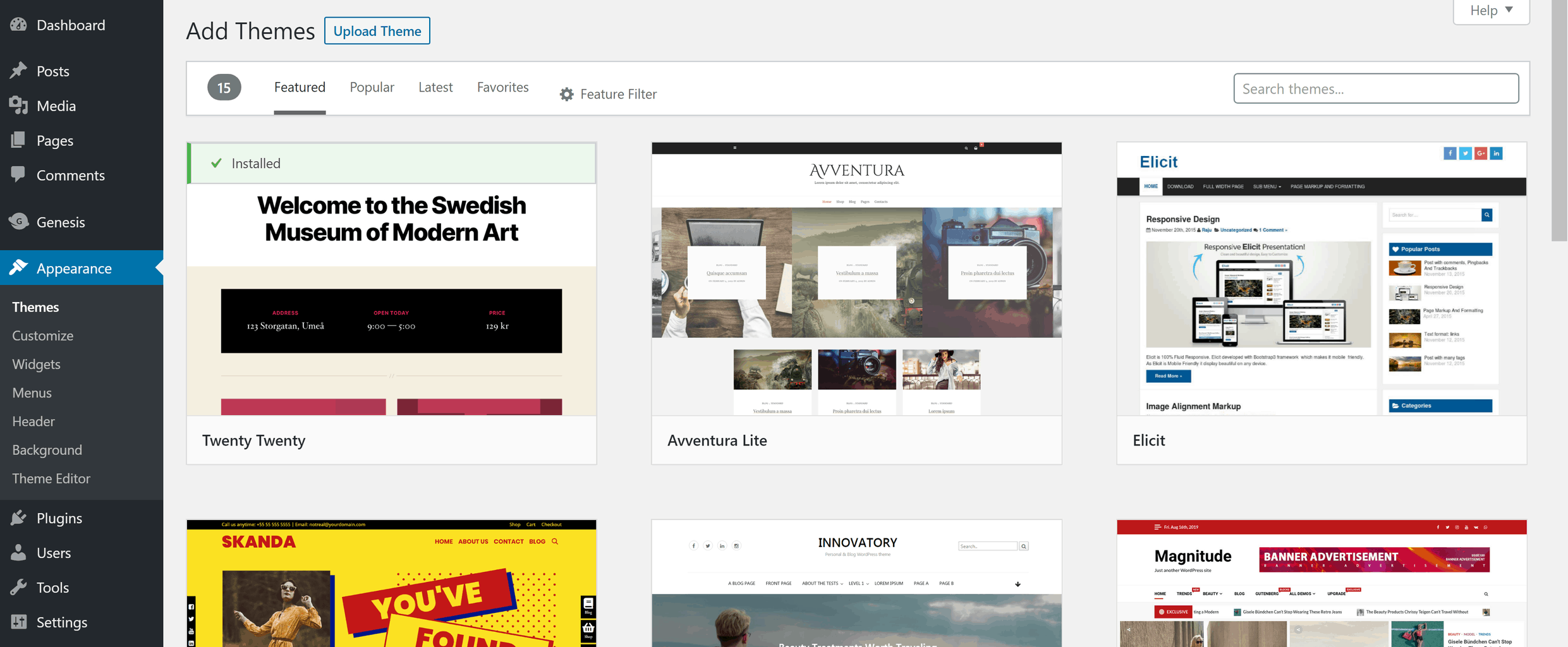 The WordPress theme directory is a good place to start when looking for your theme files.