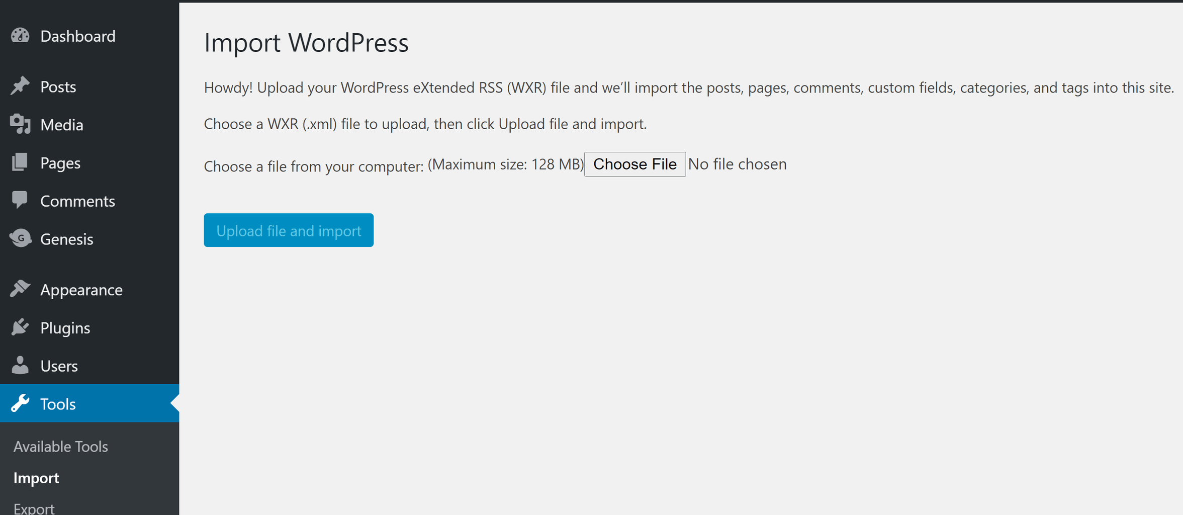 Use the WordPress import tool to migrate your pages to your new site.