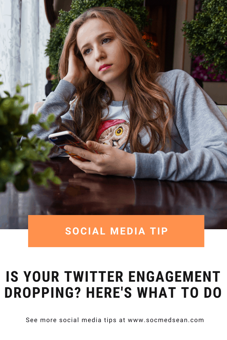 Learn how to identify that your Twitter engagement is dropping and how to stop it