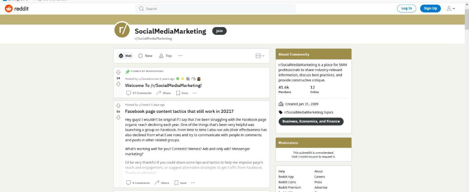 Grow your social media following by joining communities like Reddit and engaging